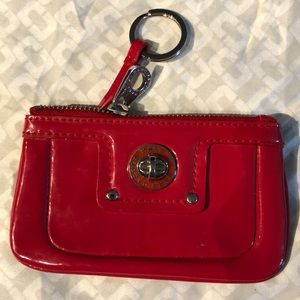 Marc By Marc Jacobs Red Totally Turnlock Keychain